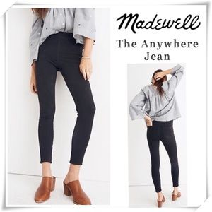 Madewell The Anywhere Jean in Faded Black Size 28